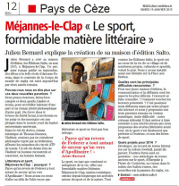 Interview Midi Libre - Janv16